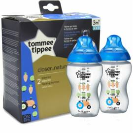 Tommee Tippee CTN BPA-mentes cumisüveg duo 340ml - kék