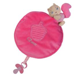 Chicco Díszdobozos Szundikendő plüss - rózsaszín
