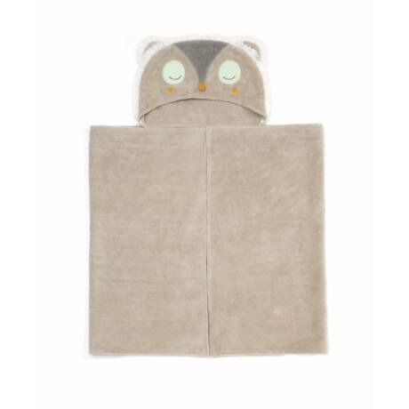 Mamas and Papas kapucnis törölköző-Owl beige