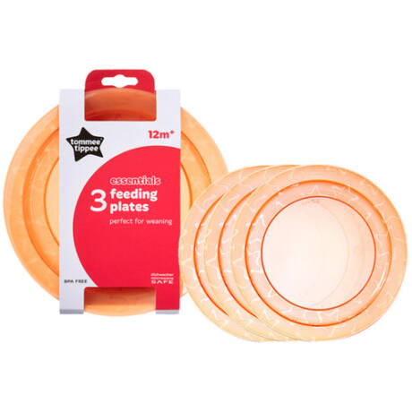 Tommee Tippee Essential Basic tányér 3db