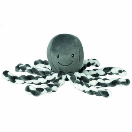 Nattou plüss játék 23cm Octopus antracit