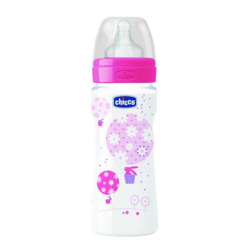 Chicco Well-Being pépesétel latex - 330 ml - Rózsaszín